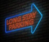 Tęsk wantowego parking neonowy znak Obrazy Stock