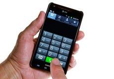AT&T Smartphone: Παραγωγή μιας κλήσης Στοκ εικόνα με δικαίωμα ελεύθερης χρήσης