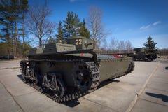 T-38 - Sovjet kleine amfibische tank. Stock Foto