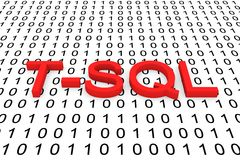 T SQL Royalty Free Stock Image