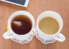 T-Stück Kaffee Oder Lizenzfreie Stockfotos