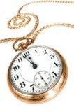 tła stary kieszeniowego zegarka biel Zdjęcia Stock
