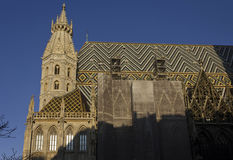 T Stephen ` s katedry wierza i dach Fotografia Royalty Free