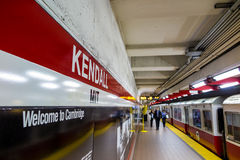 The T subway red line station in Boston Royalty Free Stock Photos