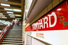 The T subway red line station in Boston Stock Photos