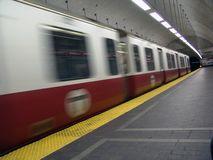 T subway train in motion Stock Photography