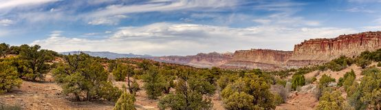 Capitol Reef National Park is in Utah`s southern desert. Stock Photos