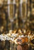tła szampana korka odosobniony biel Fotografia Stock