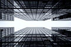 tła szklany Hong kong drapacz chmur Fotografia Royalty Free