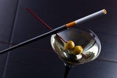tła szklany Martini szablonu wektor Zdjęcie Royalty Free