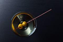 tła szklany Martini szablonu wektor Obrazy Stock