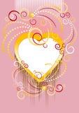 tła sztandaru serca pocztówka Zdjęcie Royalty Free