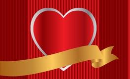 tła sztandaru serce Zdjęcie Stock
