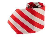 tła szyi czerwony krawata biel obraz stock