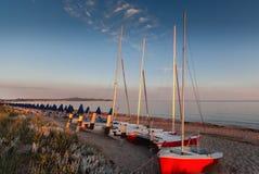 Tôt le matin sur la plage Photo libre de droits