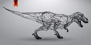 T -t-rex van driehoeken Royalty-vrije Stock Foto