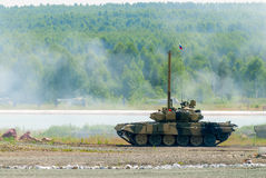 T80 tank with equipment for water crossing. Russia Royalty Free Stock Photo