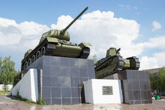 T-34 tank and first russian Soviet tank Royalty Free Stock Images