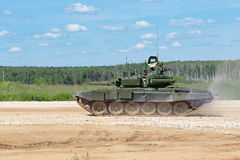 T-72 tank. MILITARY GROUND ALABINO, MOSCOW OBLAST, RUSSIA - JUN 18, 2015: The T-72  is a Soviet second-generation main battle tank at the International military Stock Photography