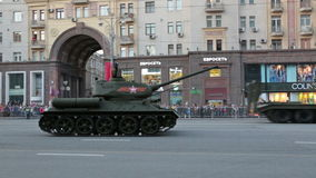 The T-34 tank stock video footage