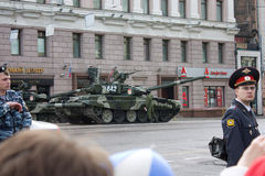 T-90 tank on parade of Victory Day on May 9, 2010 in Moscow Stock Image