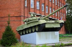 T-80 tank on the pedestal stock images