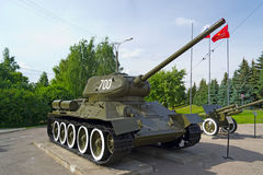 T-34 tank. The Russian tank t-34. It is photographed in the city of Cheboksary, Russia Royalty Free Stock Photo