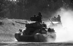 T34/85 tanks royalty free stock photos