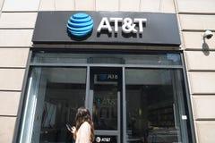 AT&T-TELEKOMMUNIKATION stockfotos