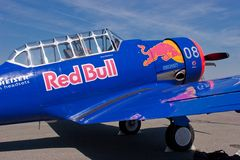 T-6 Texan Red Bull Stock Afbeelding
