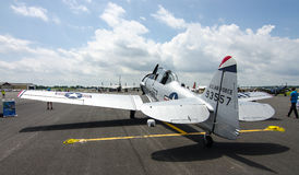 T-6 Texan. A WWII era T-6 Texan sits on the tarmac at an historic air show Stock Photo