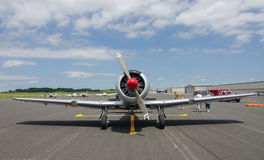 T-6 Texan. A WWII era T-6 Texan sits on the tarmac at an historic air show Stock Image