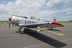 T-6 Texan. A WWII era T-6 Texan sits on the tarmac at an historic air show Stock Photography