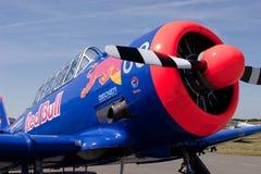 T-6 Texaner Red Bull Stockbilder