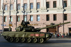 The T-90 is a third-generation Russian main battle tank. Stock Photos