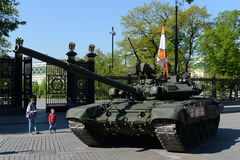 The T-90А is a third-generation Russian main battle tank. Royalty Free Stock Image