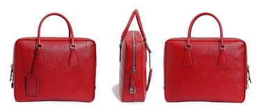 tła torby czerwony biel Obrazy Stock