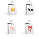 tła toreb konsumeryzmu papieru symbolu biel Obraz Royalty Free