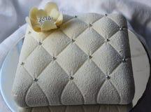tła torta grey odosobniony biel Obrazy Royalty Free