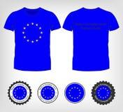 T-tröja med flaggan av europeisk union Arkivfoton