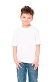 T-tröja på pojke Royaltyfria Foton