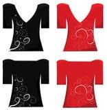 T-tröjadesign. Kvinnat-shirt. Royaltyfri Foto