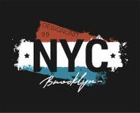 T-tr?ja - New York City och f?r dr?kt abstrakt design royaltyfri illustrationer