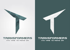 T Transformers icon symbol from an alphabet letter T. Stock Images