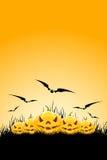 tła trawy Halloween banie Obrazy Stock