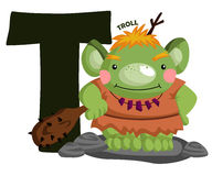 T for Troll. The Letter T for the word Troll Stock Images