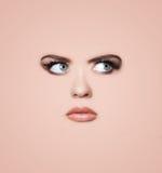 tła twarzy s kobieta Obrazy Stock