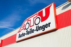 A T U标志在商店 图库摄影