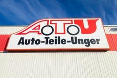 A T U标志在商店 免版税图库摄影