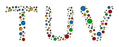 Free T U V Colorful Dotted Letters. Vector Illustration Royalty Free Stock Photography - 113720577